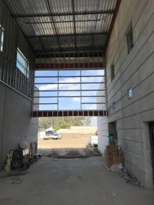 Animal shelter architect image of administration building lobby during construction of Orange County Animal Shelter in Tustin, CA